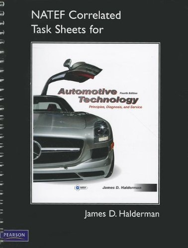 9780132540100: NATEF Correlated Task Sheets for Automotive Technology: principles, diagnosis, and service