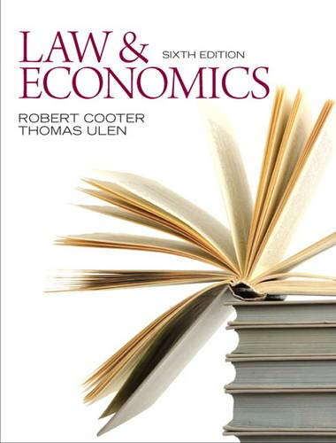 9780132540650: Law and Economics
