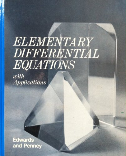 9780132541299: Elementary differential equations with applications
