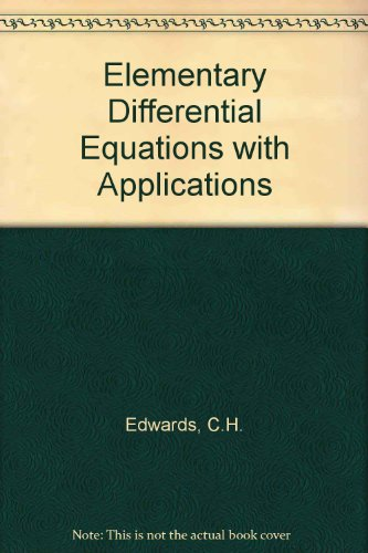 9780132541374: Solutions Manual for Elementary Differential Equations with Applications