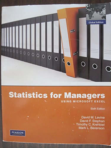 9780132543101: Statistics for Managers using MS Excel with Student Study Guide & Solutions Manual (6th Edition)
