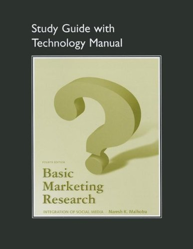 9780132544566: Study Guide with Technology Manual for Basic Marketing Research