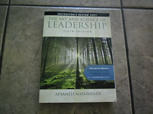 9780132544610: The Art and Science of Leadership Sixth Edition Instructor's Review Copy