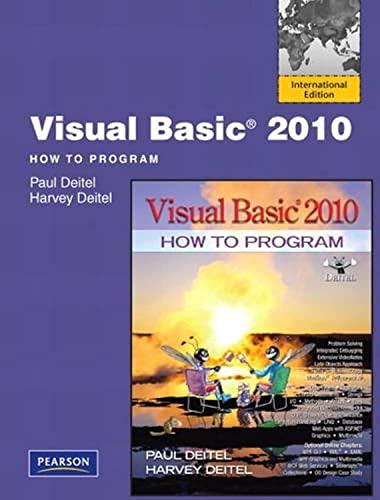 9780132546867: Visual Basic 2010 How to Program