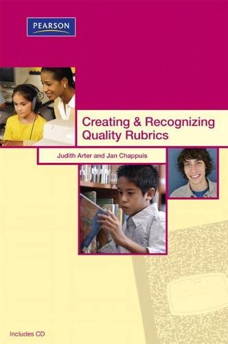 9780132548694: Creating & Recognizing Quality Rubrics