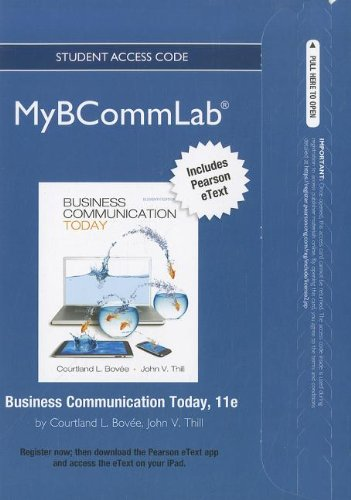 9780132551960: NEW MyBCommLab with Pearson eText -- Access Card -- for Business Communication Today
