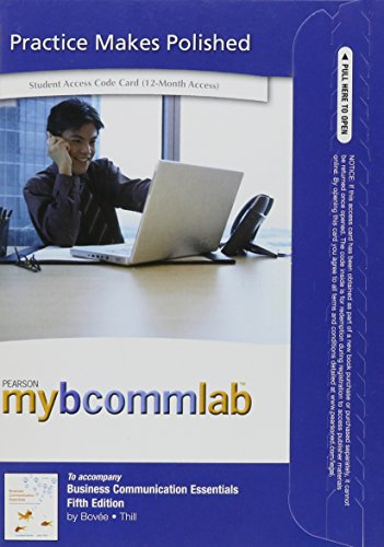 9780132551984: NEW MyBCommLab with Pearson eText -- Access Card -- for Business Communication Essentials