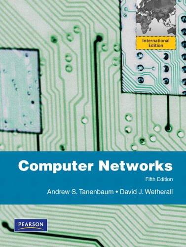 Computer Networks: International Edition: Tanenbaum, Andrew S.