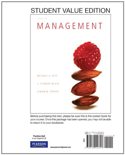 9780132553353: Management, Student Value Edition (3rd Edition)
