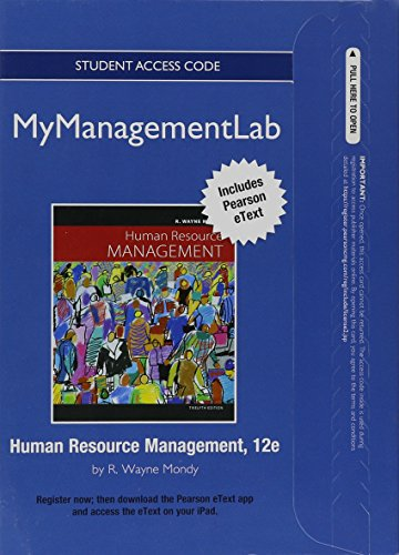 9780132553605: NEW MyManagementLab with Pearson eText -- Access Card -- for Human Resource Management (MyManagementLab (access codes))