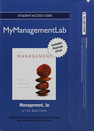 9780132553889: NEW MyManagementLab with Pearson eText -- Access Card -- for Management (MyManagementLab (access codes))