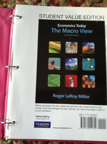 9780132554602: Economics Today: The Macro View, Student Value Edition (16th Edition)
