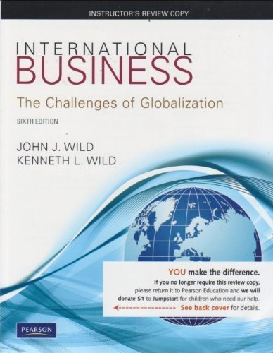 9780132555807: International Business The Challenges of Globalization Sixth Edition