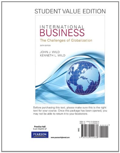 9780132555838: International Business, Student Value Edition (6th Edition)