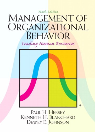 9780132556408: Management of Organizational Behavior (10th Edition)