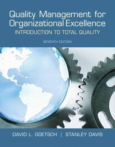 9780132558983: Quality Management for Organizational Excellence: Introduction to Total Quality (7th Edition)