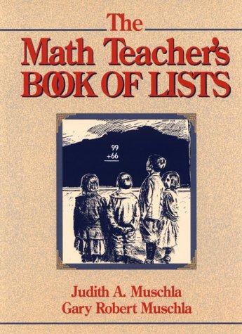 9780132559102: The Math Teacher's Book of Lists (J-B Ed: Book of Lists)