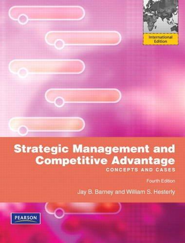 9780132560450: Strategic Management and Competitive Advantage