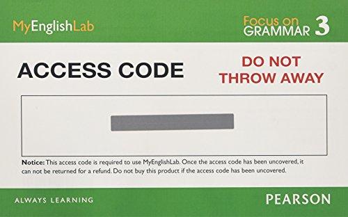 9780132560528: MyEnglishLab: Focus on Grammar 3 (Student Access Code)