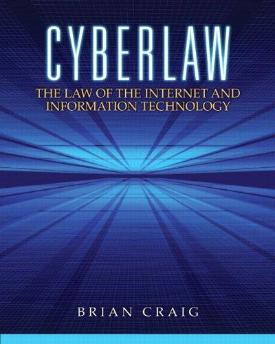9780132560870: Cyberlaw
