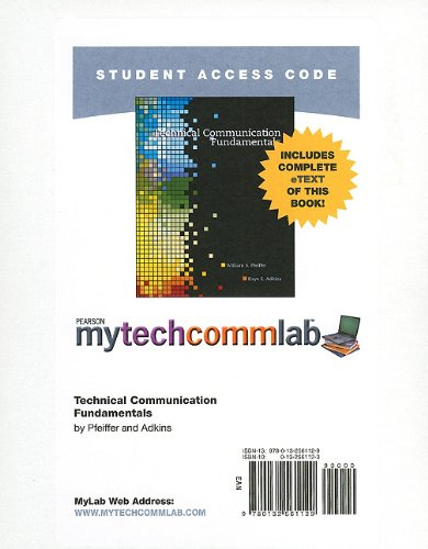 9780132561129: MyTechCommLab -- Standalone Access Card -- for Technical Communication Fundamentals (mytechcommlab (Access Codes))