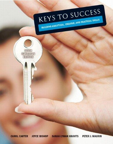 Keys To Success Building Analytically,Creative,And Practical skills: Carol Carter Joyce