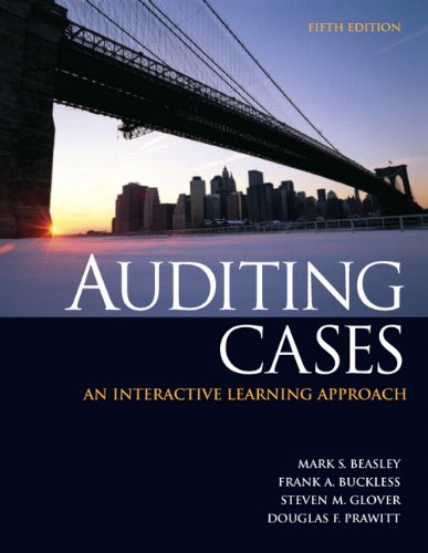 9780132567237: Auditing Cases: An Interactive Learning Approach (5th Edition)