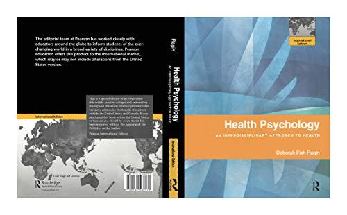 9780132568579: HEALTH PSYCHOLOGY, INTERNATIONAL EDITION