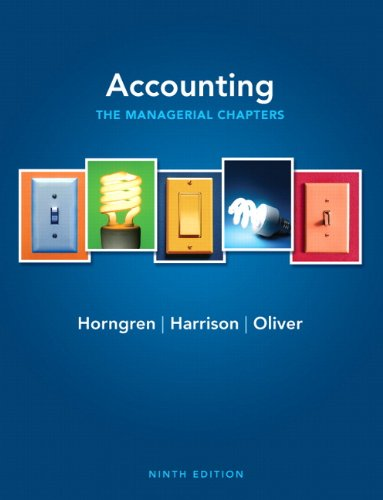 9780132569040: Accounting, Chapters 14-24 (Managerial chapters) (9th Edition)