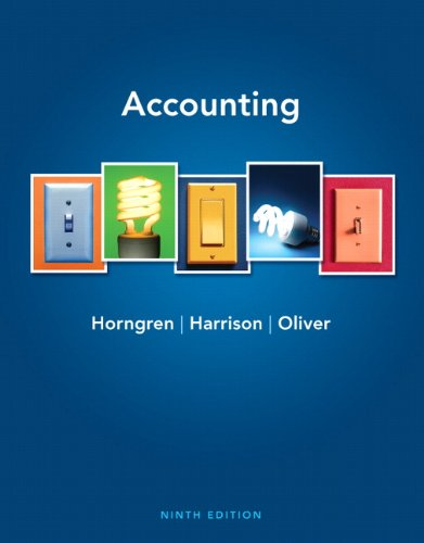9780132569057: Accounting (9th Edition)