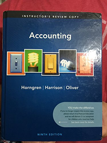 9780132569323: I.e. Accounting 9th.ed. Hardcover By Horngren
