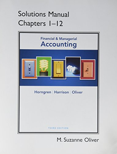 9780132569408: Accounting: Solutions Manual Chapters 1-12 Pearson