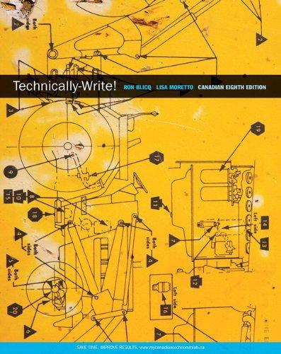 9780132570084: Technically-Write, Eighth Canadian Edition with MyCanadianTechCommLab (8th Edition)