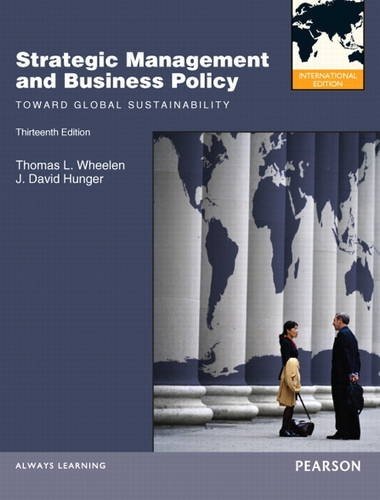 9780132570206: Strategic Management and Business Policy: Toward Global Sustainability: International Edition
