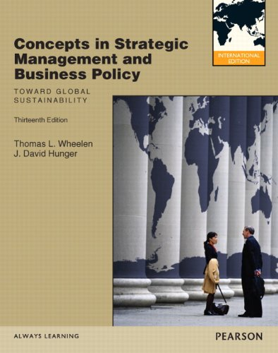 9780132570213: Concepts in Strategic Management and Business Policy: Toward Global Sustainability: International Edition