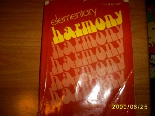 9780132574365: Elementary Harmony