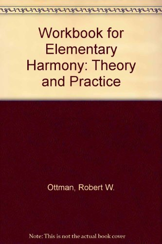 9780132574693: Workbook for Elementary Harmony: Theory and Practice [Taschenbuch] by
