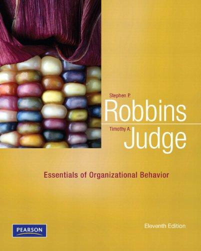 9780132574877 Essentials Of Organizational Behavior Plus