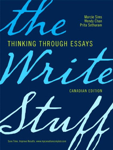 9780132575294: The Write Stuff: Thinking through Essays, First Canadian Edition with MyCanadianCompLab