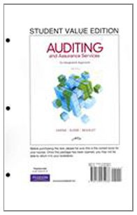 9780132575966: Auditing and Assurance Services, Student Value Edition (14th Edition)