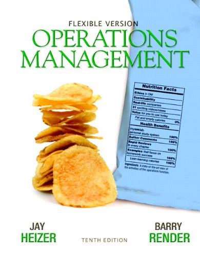9780132577069: Operations Management Flexible Version with Lecture Guide & Activities Manual Package (10th Edition)