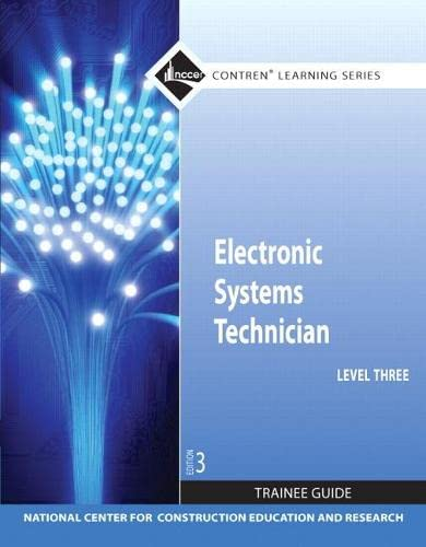 9780132578233: Electronic Systems Technician Level 3 Trainee Guide (Contren Learning)