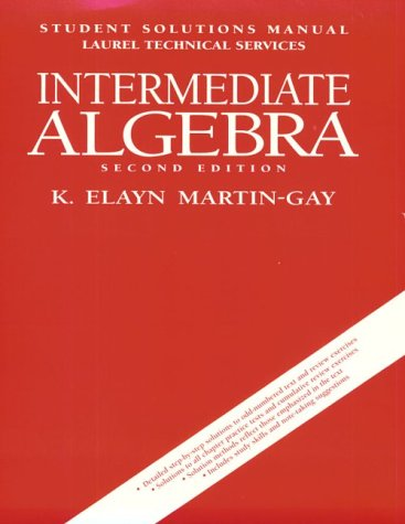 9780132580960: Intermediate Algebra