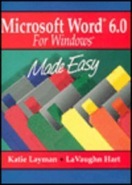 9780132589550: Microsoft Word 6.0 for Windows Made Easy