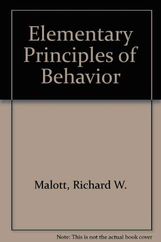 9780132594998: Elementary Principles of Behavior