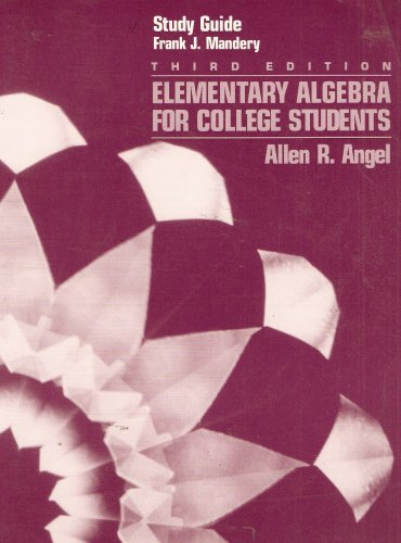 9780132596800: Elementary Algebra for College Students.