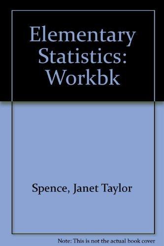 9780132600910: Elementary Statistics: Workbk