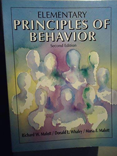 9780132602419: Elementary Principles of Behavior