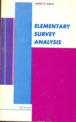 9780132605472: Elementary Survey Analysis (Prentice-Hall methods of social science series)