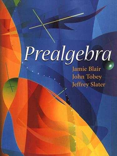 Prealgebra: Jamie Blair, John